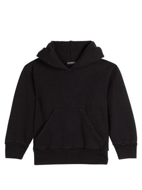 Balenciaga Kids - Unisex Logo Embroidered Cotton Blend Hoodie - Womens - Black cover image