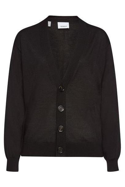 Burberry Dornoch Merino Wool Cardigan  in black cover image