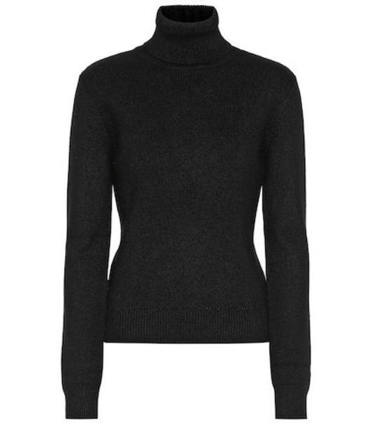 Saint Laurent Cashmere turtleneck sweater in black cover image