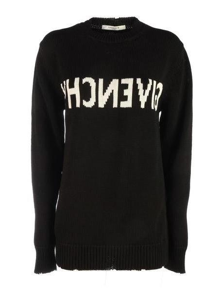 Givenchy *sweater With Logo In The Middle/maglia Jacquard in black / white cover image