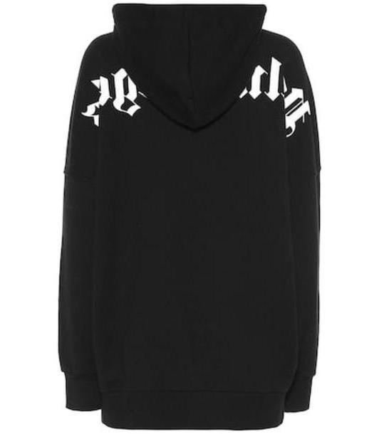 Palm Angels Logo cotton hoodie in black cover image