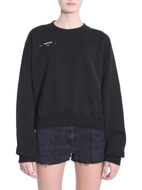 Off-White Cropped Sweatshirt in nero cover image