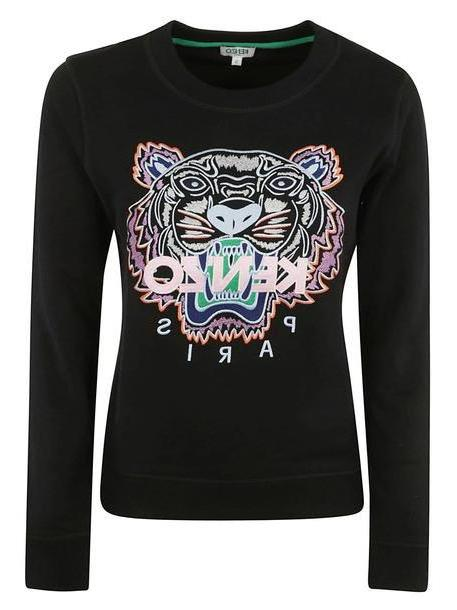 Kenzo Embroidered Tiger Sweatshirt in black cover image