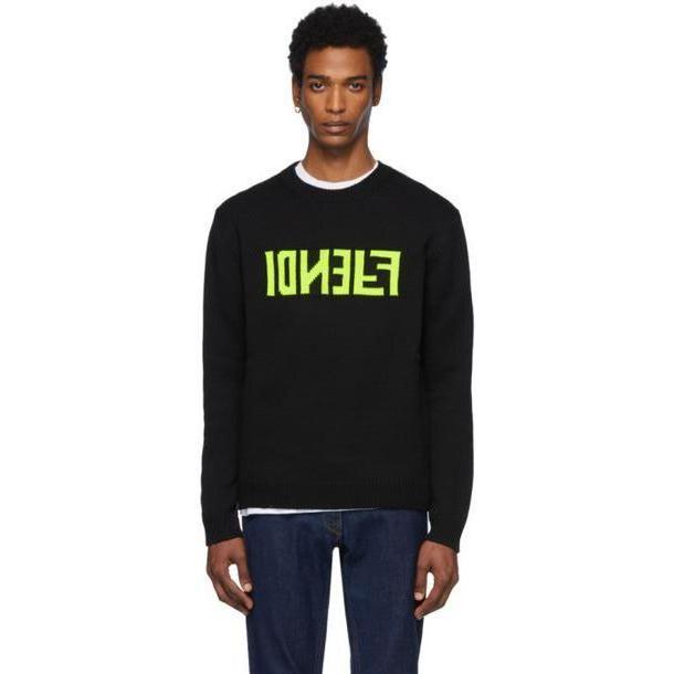 Fendi Black 'F Fendi' Sweater cover image
