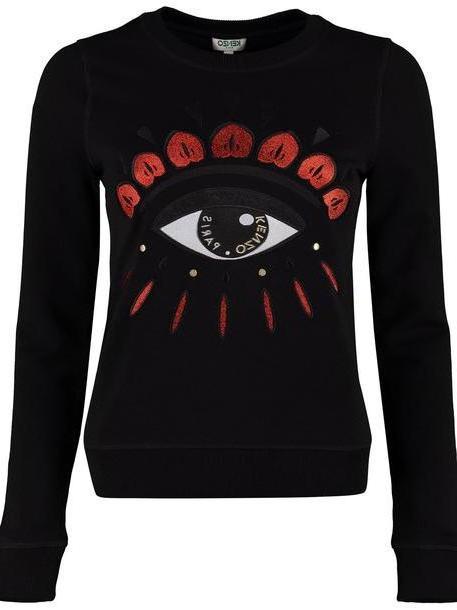 Kenzo Kenzo Eye Embroidery Cotton Sweatshirt in black cover image