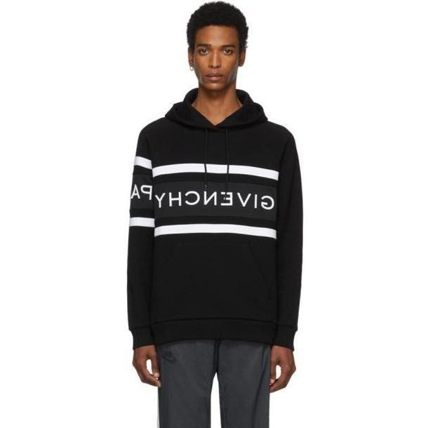 Givenchy Black Contrasting Stripes Hoodie cover image
