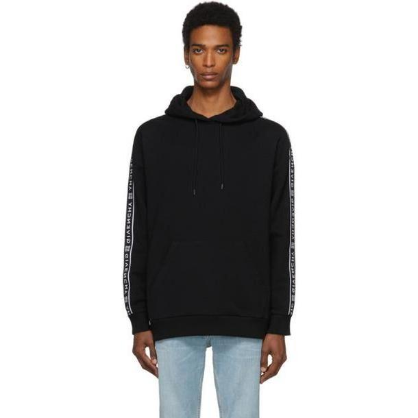 Givenchy Black 4G Webbing Hoodie cover image