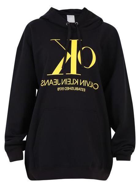 Calvin Klein Jeans Printed Sweatshirt in black cover image