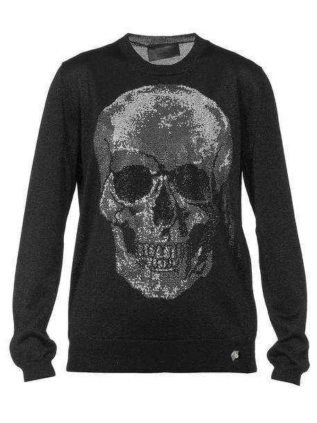 Philipp Plein Lurex Sweater in black cover image