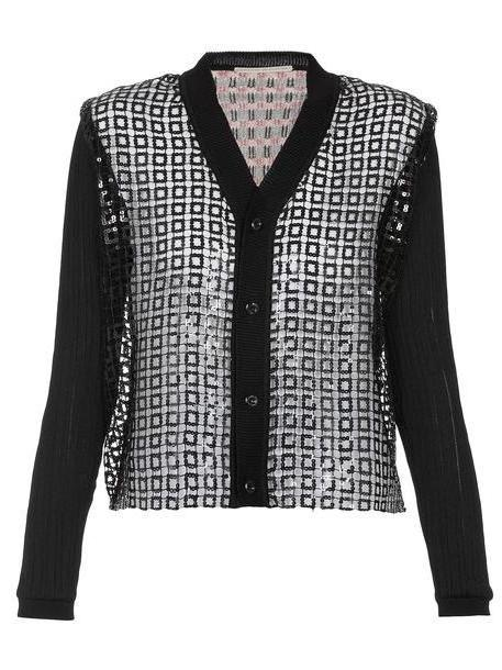 Marco de Vincenzo Knitted Cardigan With Sequins in black cover image