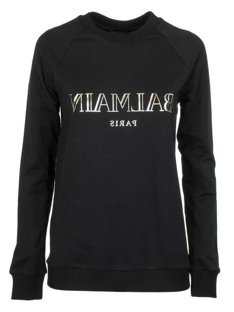Balmain Printed Logo Sweatshirt in black cover image
