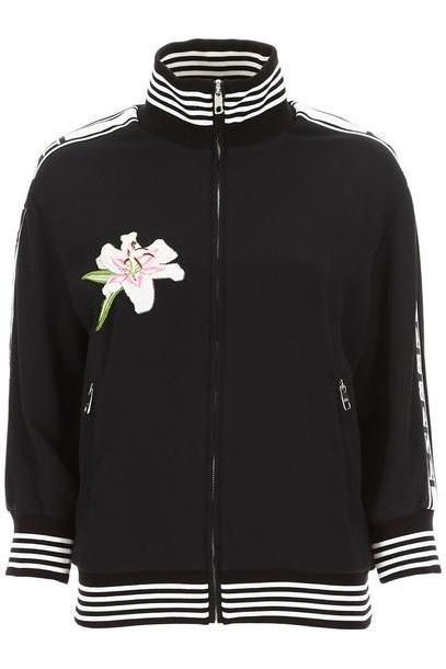 Dolce & Gabbana Lily Patch Sweatshirt in black cover image