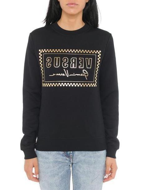 Versus Versace Versus Printed Logo Sweatshirt in black cover image