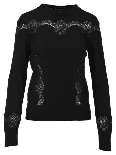 Dolce & gabbana Dolce & Gabbana Lace Sweater in black cover image
