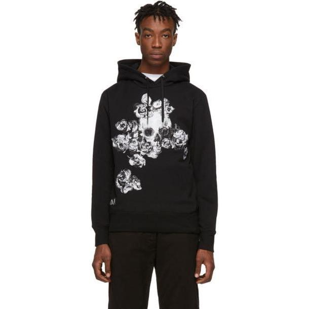 Alexander McQueen Black Embroidered Hoodie cover image