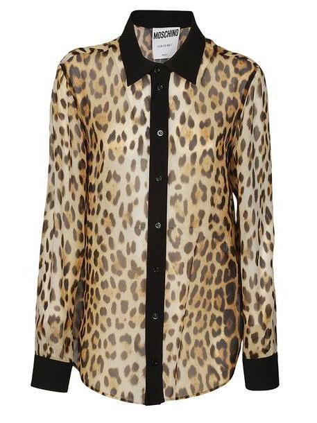 Moschino Leopard Printed Shirt cover image