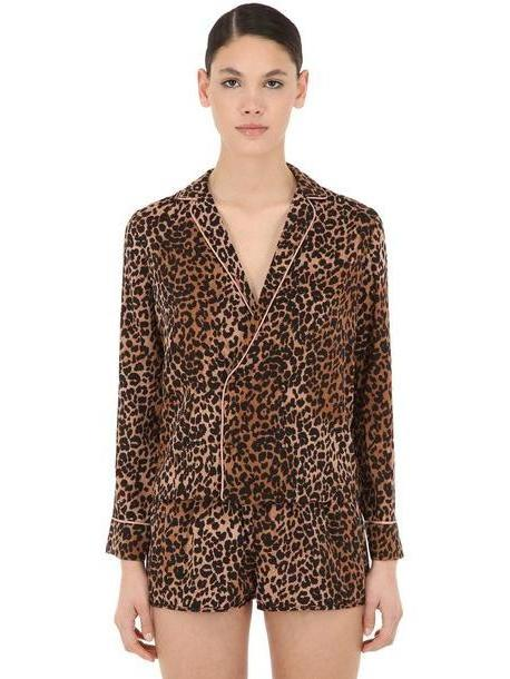 LOVE STORIES Leopard Printed Pajama Shirt cover image