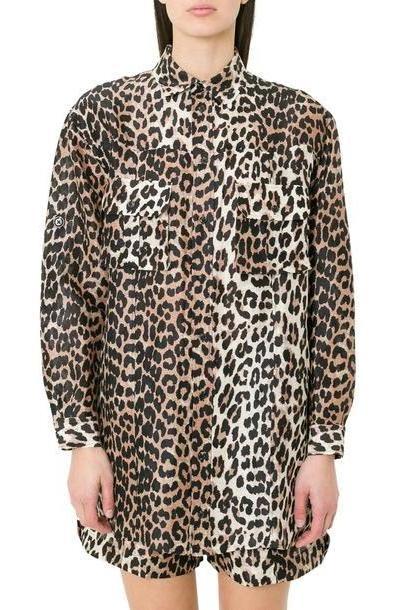 Ganni Cedar Leopard Printed Shirt cover image