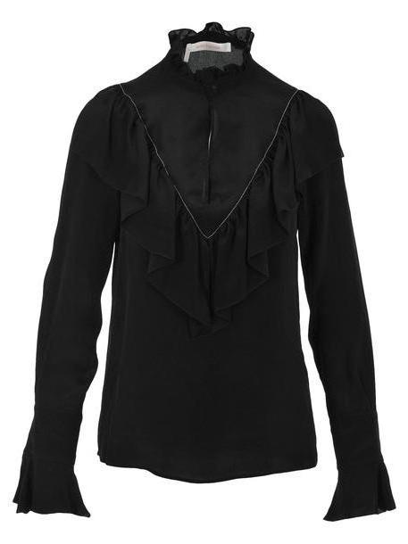 See by Chloé See By Chloe Ruffled Shirt in black cover image