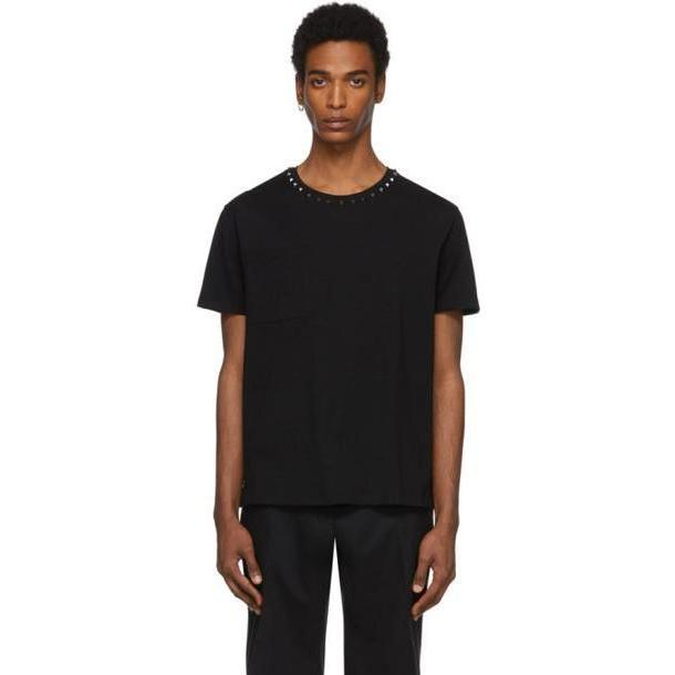 Valentino Black Collar Rockstud T-Shirt cover image