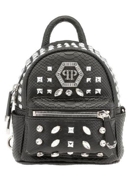 Philipp Plein Crystals Backpack in black cover image