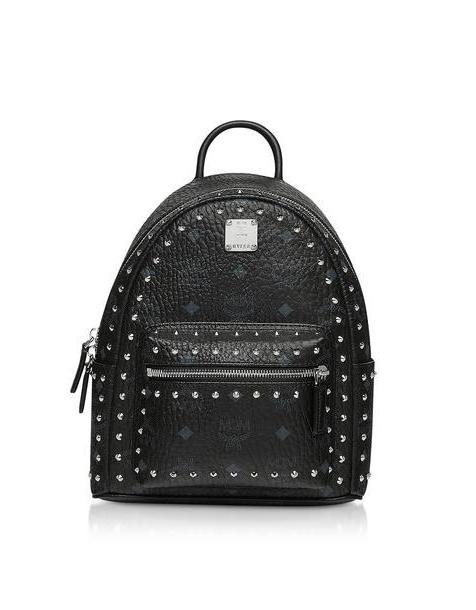 Mcm Studded Outline Visetos Stark Backpack in black cover image