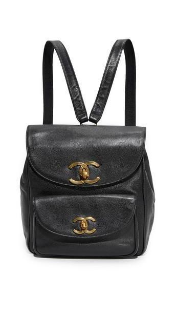 What Goes Around Comes Around Chanel Caviar Backpack (Previously Owned) - Black cover image
