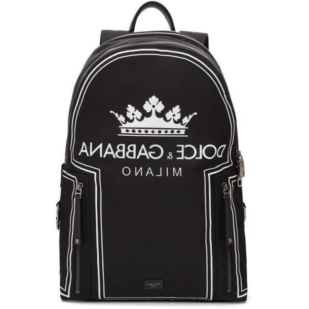 Dolce and Gabbana Dolce & Gabbana Black 'DG Logo' Backpack cover image