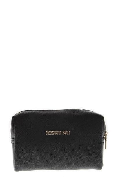 Love Moschino Black Faux Leather Zipped Purse cover image