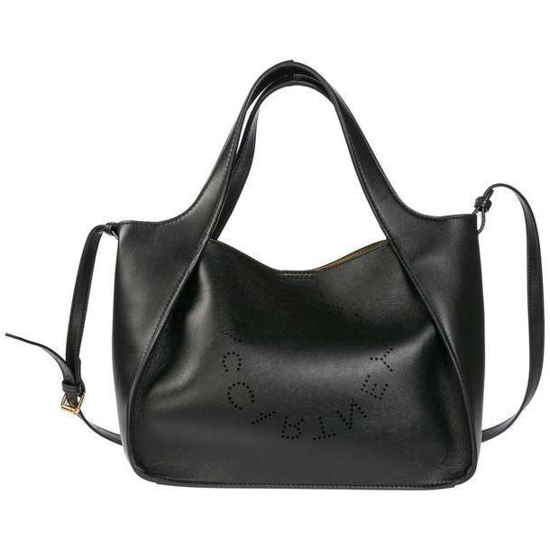 Stella McCartney Handbag Shopping Bag Purse Tote Stella Logo in nero cover image