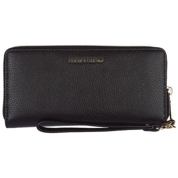 Michael Kors Wallet Genuine Leather Coin Case Holder Purse Card Bifold Mercer in nero cover image