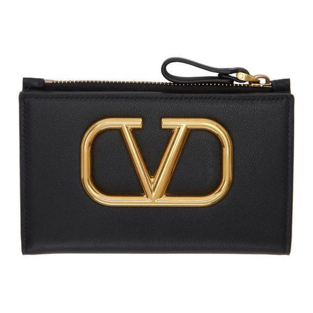 Valentino Black Valentino Garavani VRing Coin Purse cover image
