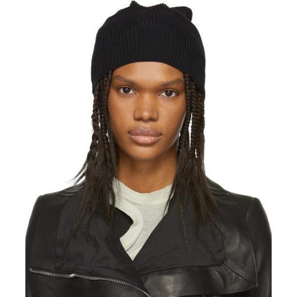 Rick Owens Black Medium Wool Beanie cover image