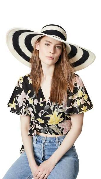 Eugenia Kim Sunny Hat in black / ivory cover image