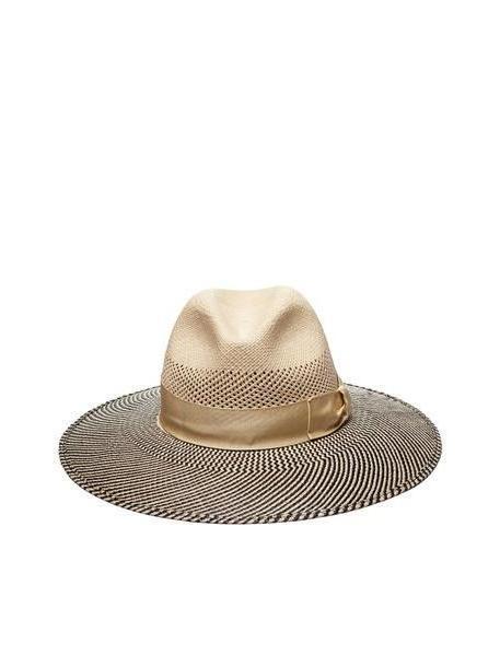 Borsalino Striped Sun Hat in nero cover image