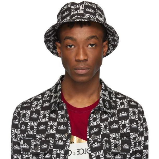 Dolce and Gabbana Dolce & Gabbana Black & White Crown Hat cover image