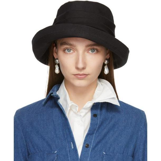 Y's Black Easy Cloth Bio Washer Sun Hat cover image