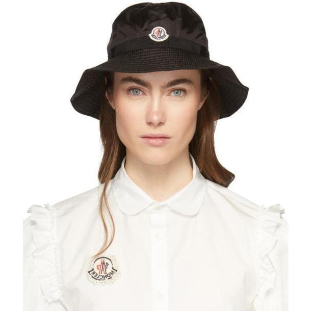 Moncler Black Logo Bucket Hat cover image