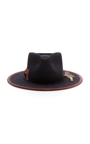 Nick Fouquet Cuba Tornado Feather-Embellished Fedora in black cover image