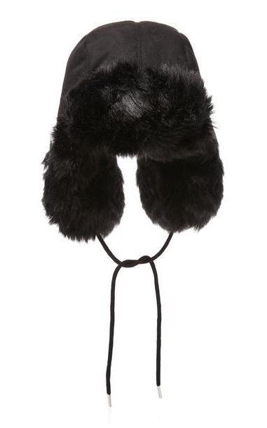 Charlotte Simone Helmut Faux-Fur Hat in black cover image