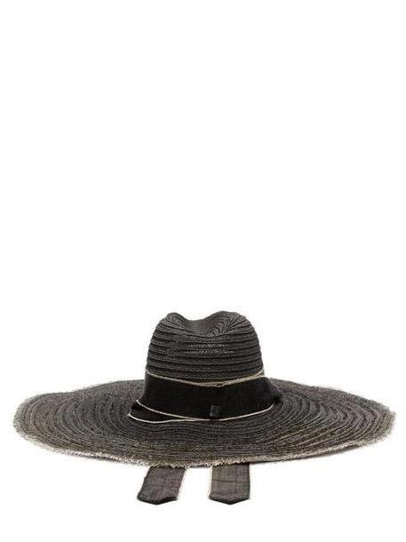 4177263550c Filù Hats - Mauritius Raw Edged Straw Hat - Womens - Black cover image