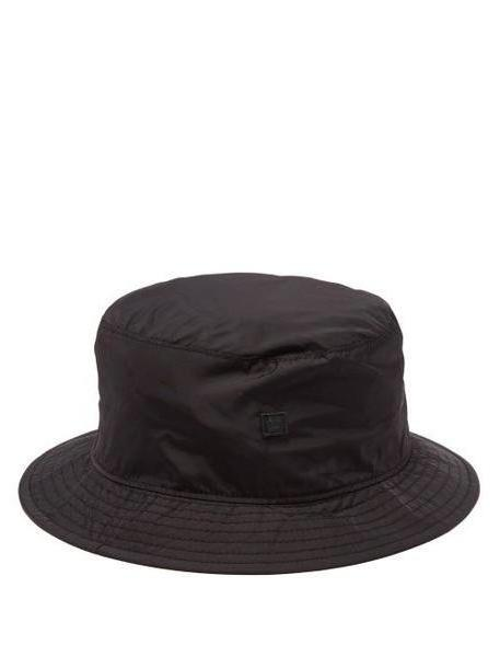 Acne Studios - Face Technical Shell Bucket Hat - Womens - Black cover image
