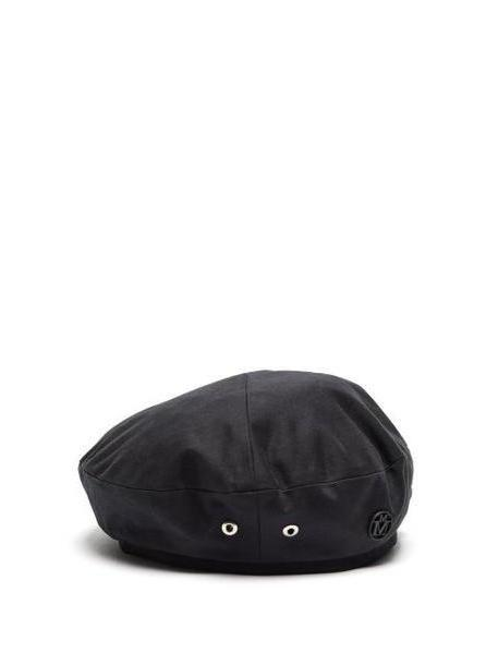 Maison Michel - New Billy Cotton Beret - Womens - Black cover image