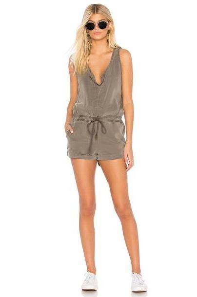 YFB CLOTHING Cliff Romper in green cover image