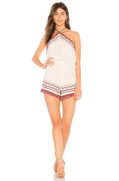 Somedays Lovin Free We Roam Playsuit in white cover image