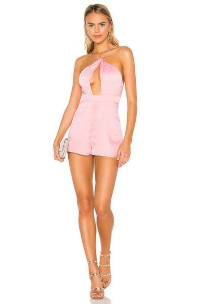 superdown Mariana Cut Out Romper in pink cover image