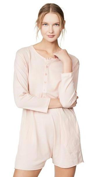 THE GREAT. THE GREAT. Henley Romper in rose cover image