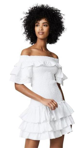 MISA Lourdes Romper in white cover image